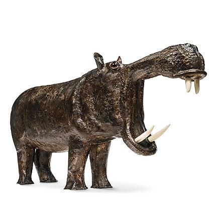 Jacques Duval Brasseur Hippopotamus Sculpture, 1970–1980