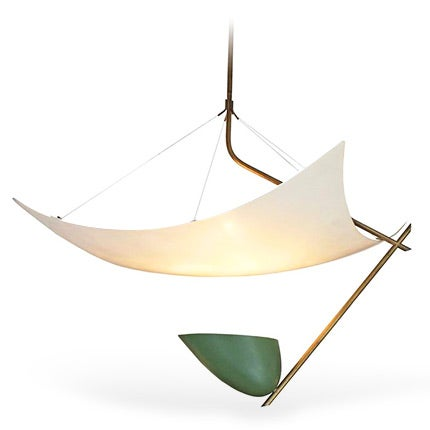 Angelo Lelli Kite Ceiling Light, 1950s