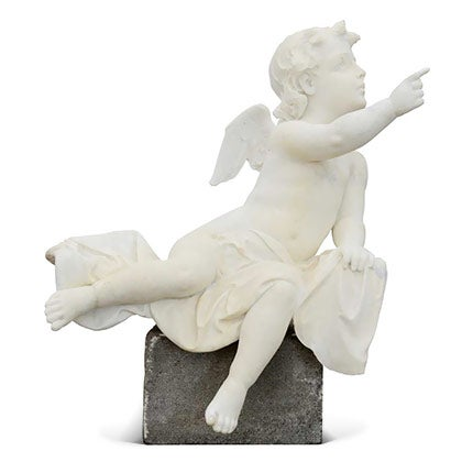 Marble Angel Statue, 19th Century