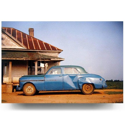 William Christenberry, House & Car, Near Akron, Alabama, 1978