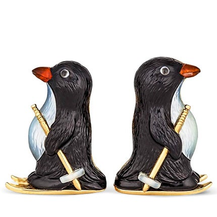 Steven Fox Skiing Penguin Cufflinks, 2015