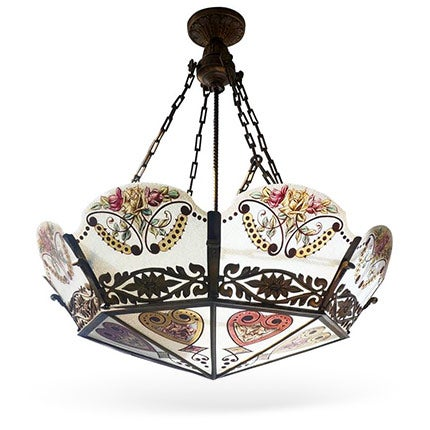 Glass Chandelier, ca. 1900