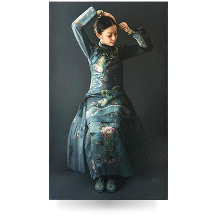 Zhao Kailin, Lady In Blue, 2016