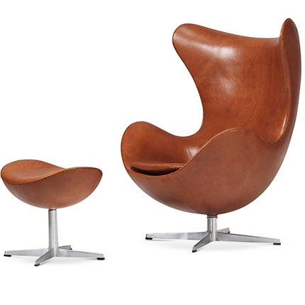 Arne Jacobsen Egg Chair and Ottoman, 1960s