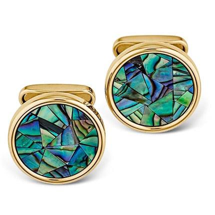 Abalone Mosaic Cufflinks, 2012