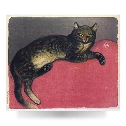Théophile Alexandre Steinlen, L'Hiver, chat sur un coussin, 1909