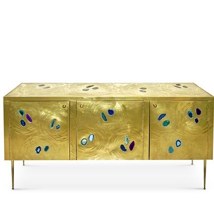 Brass Cabinet with Agate, 2015