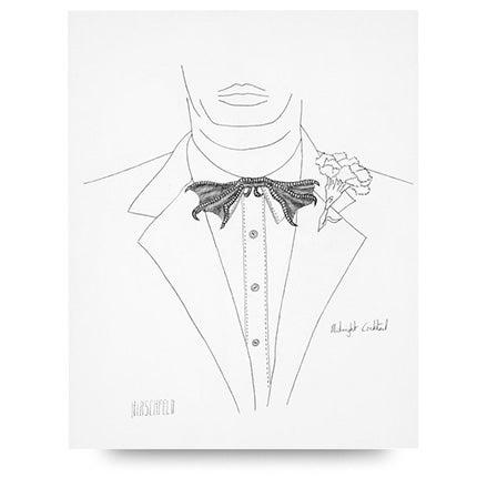 Al Hirschfeld, Midnight Cocktail, 1983