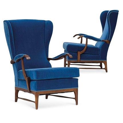 Paolo Buffa Lounge Chairs, 1960