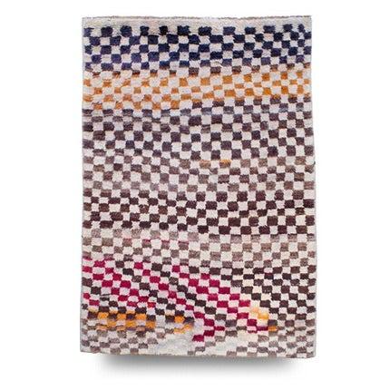 Checkerboard Rug, Mid-20th Century
