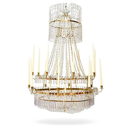 Swedish Gustavian Chandelier, ca. 1800