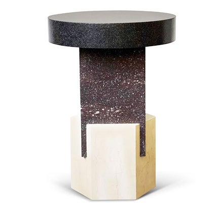 Oeuffice Marble and Granite Stool, Made to Order