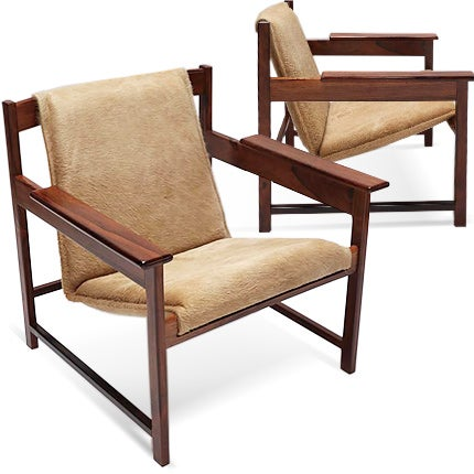 Sergio Rodrigues Armchairs, 1960s