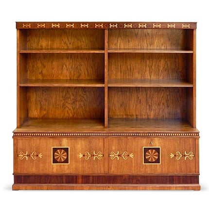 Arts and Crafts Inlaid Bookcase, 1920