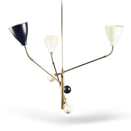 Angelo Lelii Suspension Light, 1950s