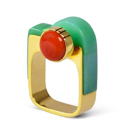 Richard Chavez Modernist Ring, 1990s