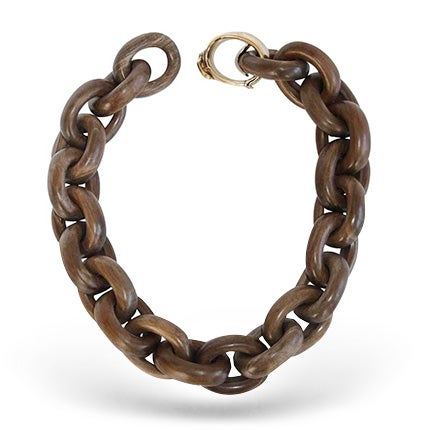 Goossens Paris Wood Link Necklace, 2017