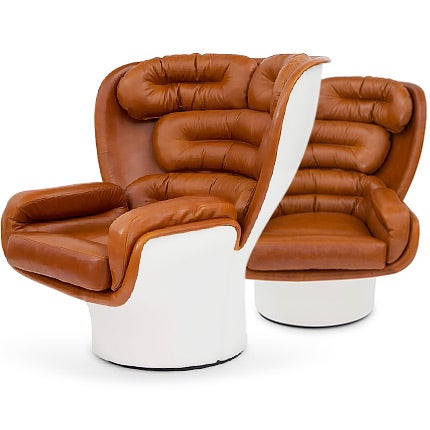 Joe Colombo Swivel Chairs, 1960s
