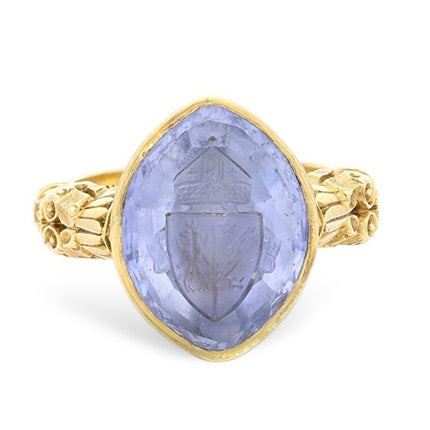Pale Blue Sapphire Bishop's Ring, 1899