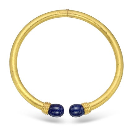 Lalaounis Yellow Gold and Lapis Collar Necklace, 21st Century