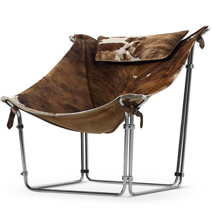 Kwok Hoi Chan Cowhide Tubular Chair, 1969