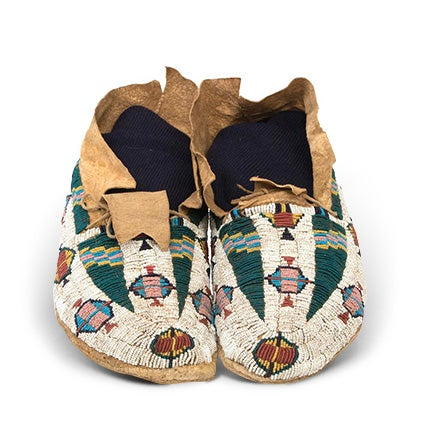 Native American Beaded Moccasins, 19th Century