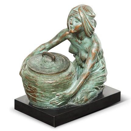 Gustav Gurschner Bronze Inkwell, 1900