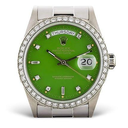 Rolex White Gold Wristwatch, 1986