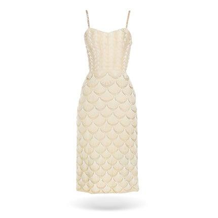 Fontana Couture Beaded White Dress, 1950s