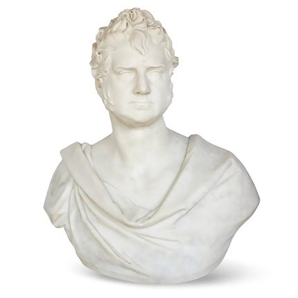 Thomas Earle, Marble Portrait Bust of George Boole, ca. 1850