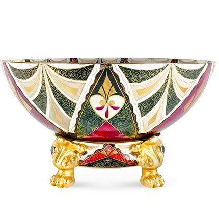 Austrian Porcelain Centerpiece Bowl, 1920s