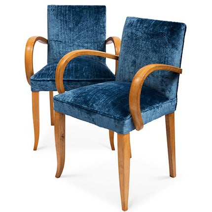 French Art Deco Bridge Chairs, ca. 1930