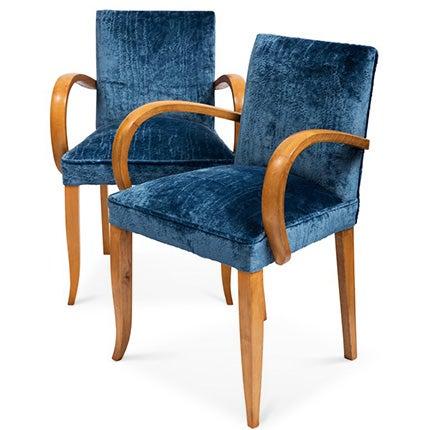 French Art Deco Bridge Chairs, ca. 1930