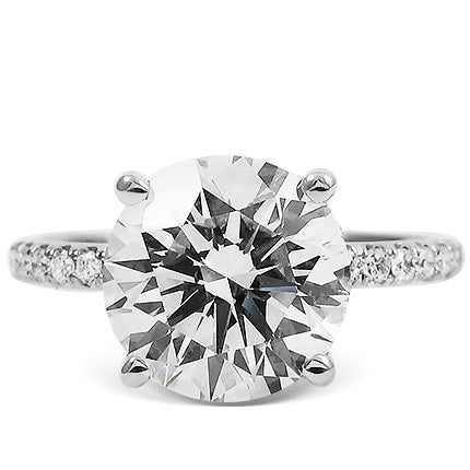 3.52 Carat Diamond and Platinum Engagement Ring, 21st Century