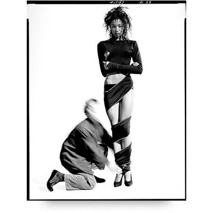 Arthur Elgort, Naomi Campbell and Azzedine Alaïa,1987