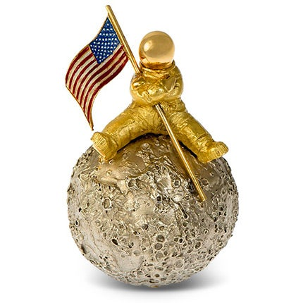 Moon Landing Brooch, 1969