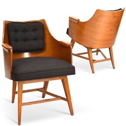 Edward Wormley Armchairs, 1950s