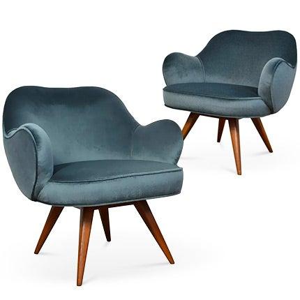 Vladimir Kagan Lounge Chairs, 1950s