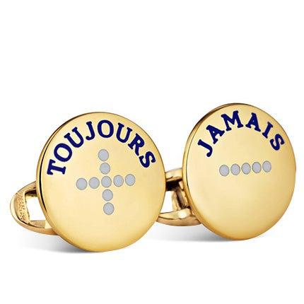 Steven Fox Jewelry Gold Cufflinks, 2018