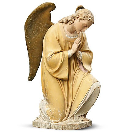 Carved Wooden Angel, Late 19th Century