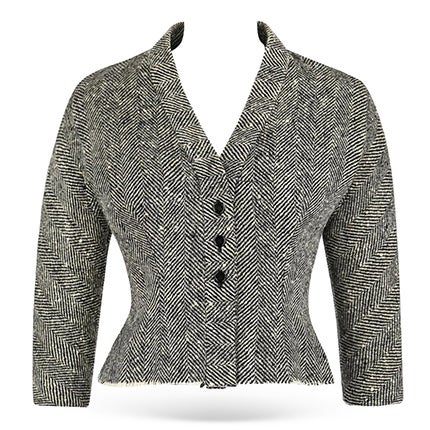 Hubert de Givenchy Herringbone Wool Jacket, ca. 1952