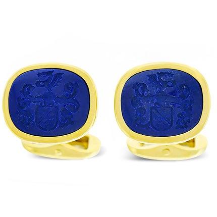 Lapis  Lazuli Cufflinks, 1950s