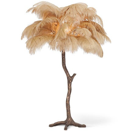 Golden Feathered Bronze Tree Lamp, 2017