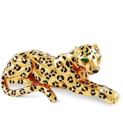 Cartier Gold Panther Brooch, 1980s