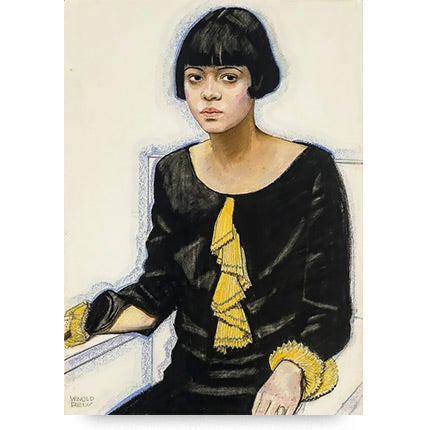 Winold Reiss, Portrait of Sari Patton, 1925