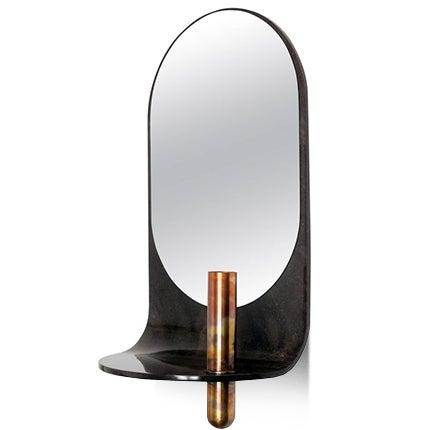 Birnam Wood Studio Wall Mirror with Vase and Shelf, 2018