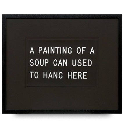 William Anastasi, A Painting of a Soup Can Used to Hang Here, 1991
