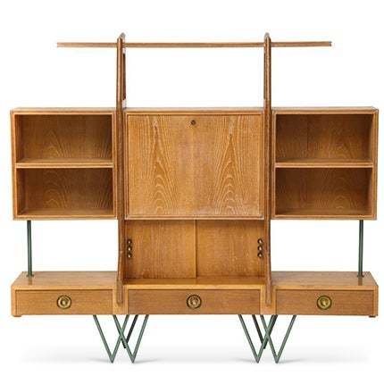 Cerused Oak Bookshelf, 1950s