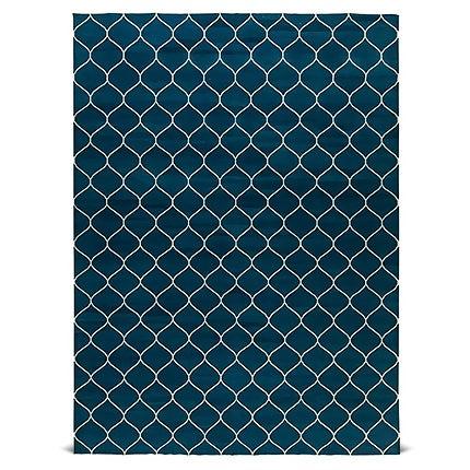 Zeitgenössischer Marineblauer Teppich