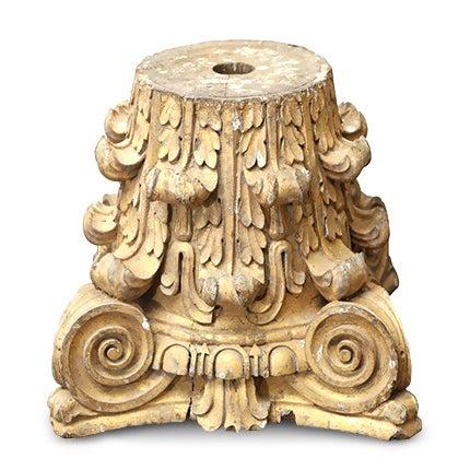 Dorische Säule aus vergoldetem Holz, 18. Jahrhundert